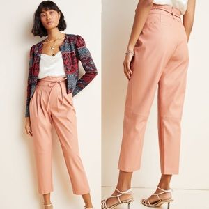 New Anthropologie Chelsea Tapered Faux Leather